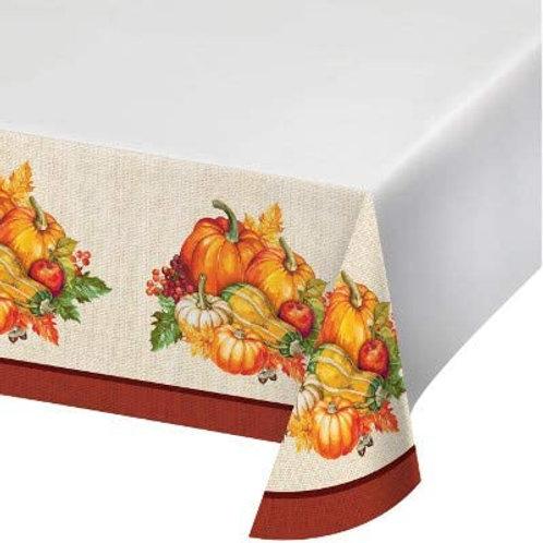 Fall Season Thanksgiving Party Decorations, Plentiful Harvest Pattern Printed Pl