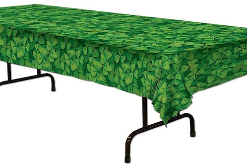 Shamrock Plastic Tablecover pack of 12