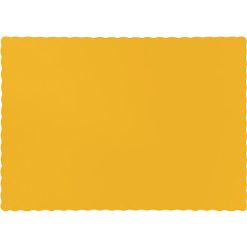 Color Paper Placemats, Golden Yellow (100 Count)