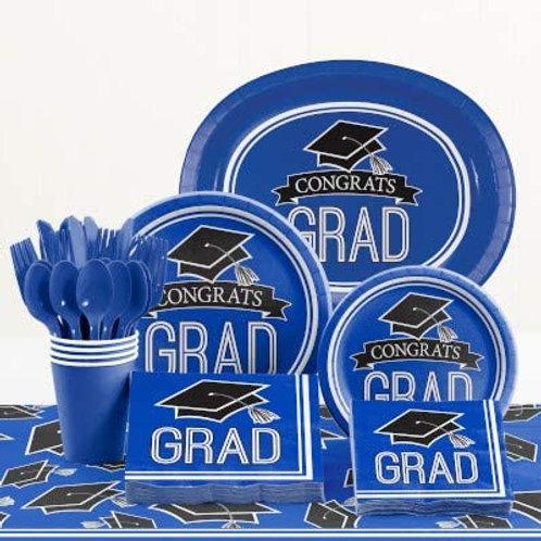 Baxters Party Bundle Graduation Party, Blue Color Bundle for 18 People, Box of