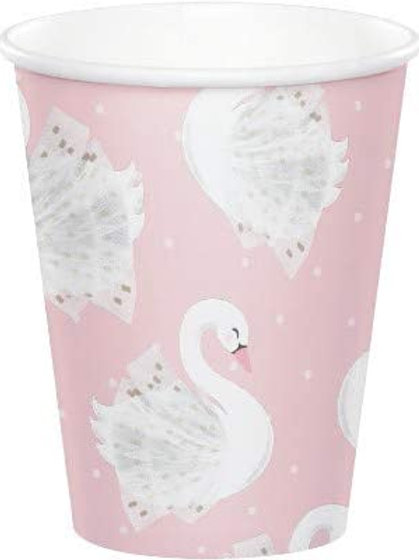 Stylish Swan Birthday Party Decorations, Pink and Gold Swan Party Supplies 9 Ou
