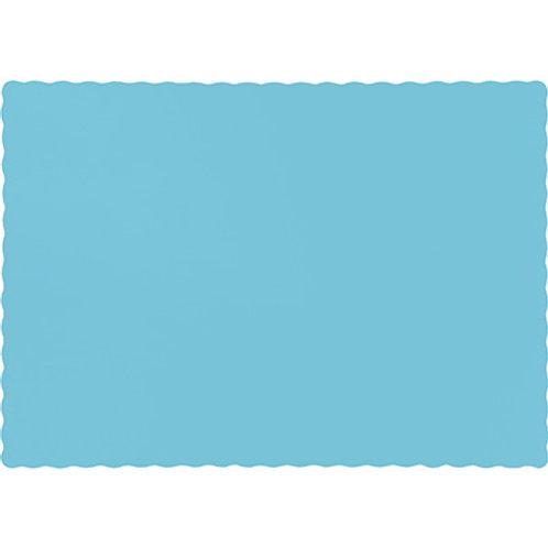Color Paper Placemats, Pastel Blue (100 Count)