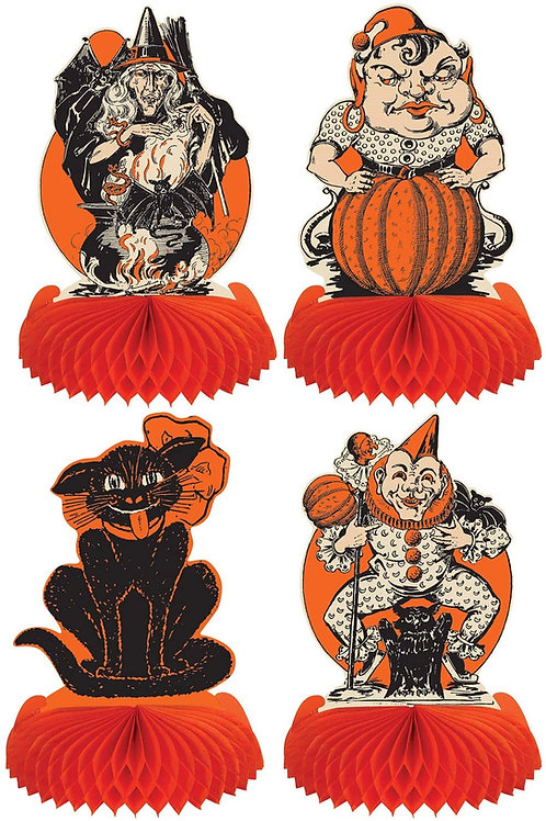 Beistle Halloween Decorations Party Favors, Assorted Vintage Halloween Centerpi
