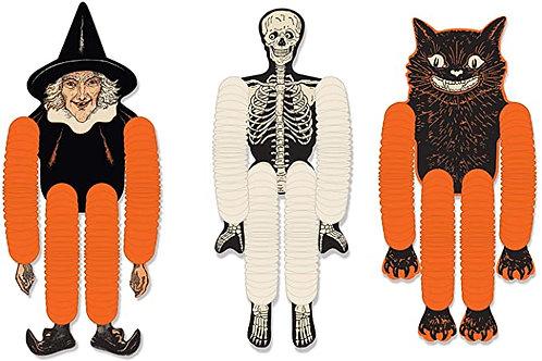 Beistle Halloween Decorations Party Favors, Assorted Vintage Halloween Tissue Da