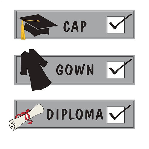 """Roll over image to zoom in  Club Pack of 192""""Cap, Gown, Diploma"""" Graduation C"""