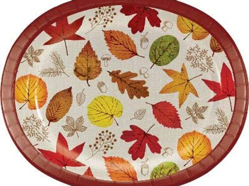 Fall Season Thanksgiving Party Decorations, Happy Harvest Pattern Printed 10 In
