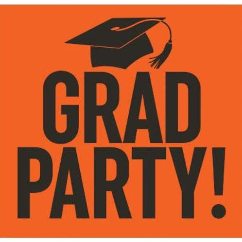 Graduation Party Yard Sign Orange and Black