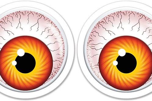 "Beistle Club Pack of 24 Giant Googly Eyeballs Halloween Decorations - 6"""