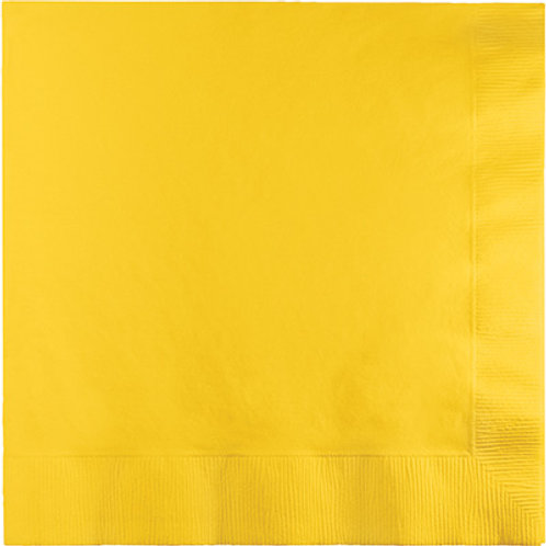 Creative Converting 600 Count Touch of Color Beverage Paper Napkins, SchoolBus Y