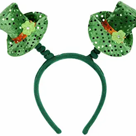 Club Pack of 12 Green Sequined Leprechaun Hat St. Patrick's Day Snap-On Bopper H