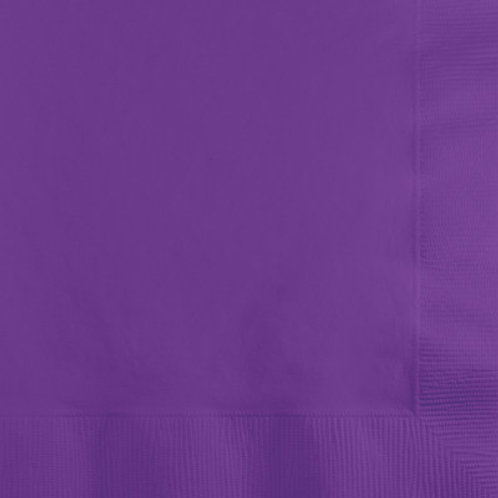 Creative Converting 600 Count Touch of Color Beverage Paper Napkins,Purple