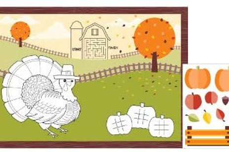 Halloween Party Decorations, Halloween Kids' Activity Printed Placemats 10 Inch