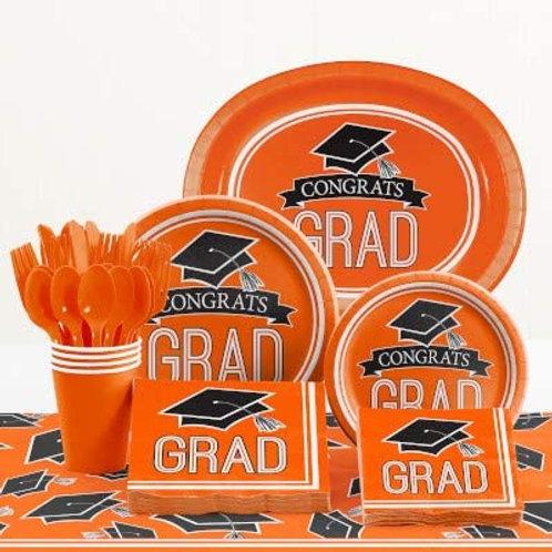 Baxters Party Bundle Graduation Party, Orange Color Bundle for 18 People, Box o
