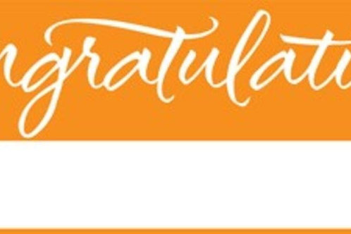 Pack of 6 Sunkissed Orange and White Giant Graduation Party Banners 5'