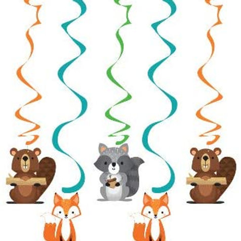 Woodland Animal Creatures Party Supplies, Wild One Birthday Assorted Danlers, B