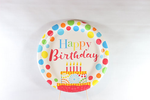 """Happy Birthday 7"""" Plate, pack 50 count"""