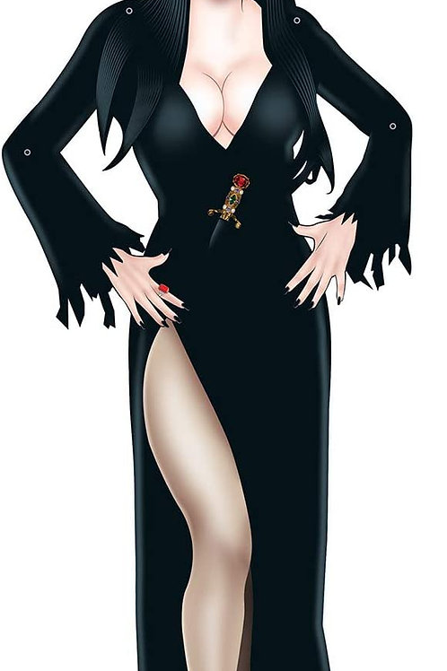 Beistle Halloween Decorations Party Favors, Jointed Elvira Character 35.75 Inch