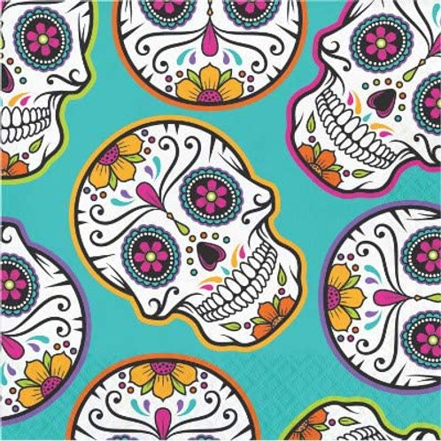 Halloween Party Decorations, Day of The Dead Theme Printed Luncheon Size Paper N