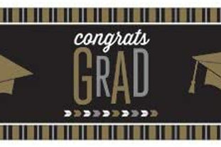 Graduation Party Glitzy Grad Printed Giant Sign Banner Indoor/Outdoor, Box of 6