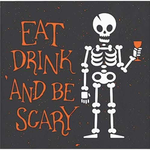 Halloween Party Decorations, Eat Drink and Be Scary Theme Printed Beverage Size