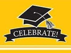 School Color Graduation School Bus Yellow Printed Party Invites, Box of 75 Invit
