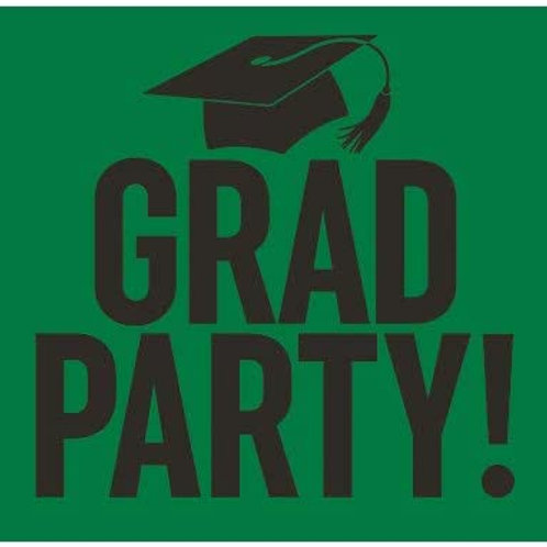 Graduation Party Yard Sign Green and Black