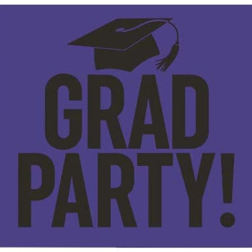 Graduation Party Yard Sign Purple and Black