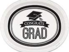 Graduation School Spirit White Color Printed 10in