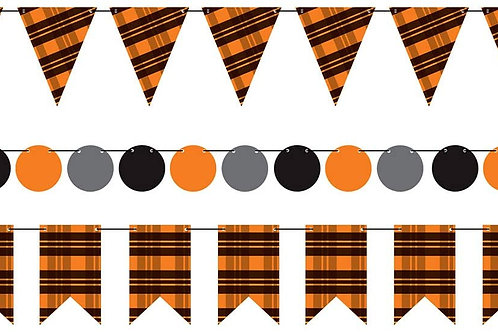 Beistle Halloween Decorations Party Favors, Halloween Colors Mini Streamer Kits