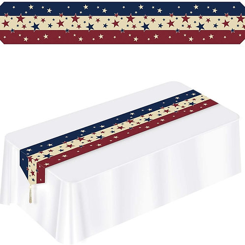 Beistle Club Pack of 12 Printed Stars and Stripes Patriotic Disposable Americana