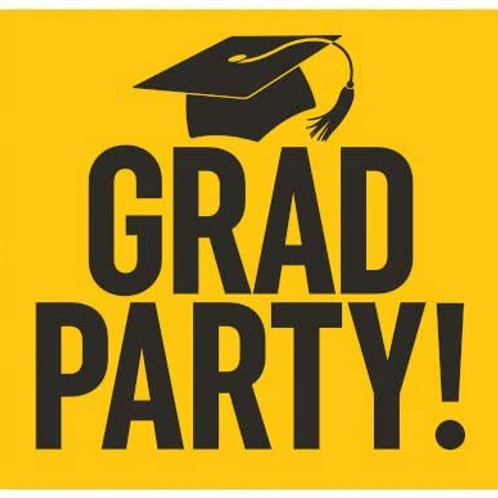 Graduation Party Yard Sign Yellow and Black
