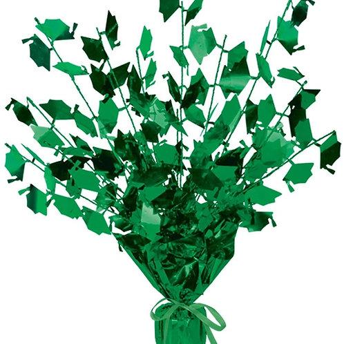 "Club Pack of 12 Green Foil Spray Graduate Cap Gleam 'N Burst Centerpieces 15"""