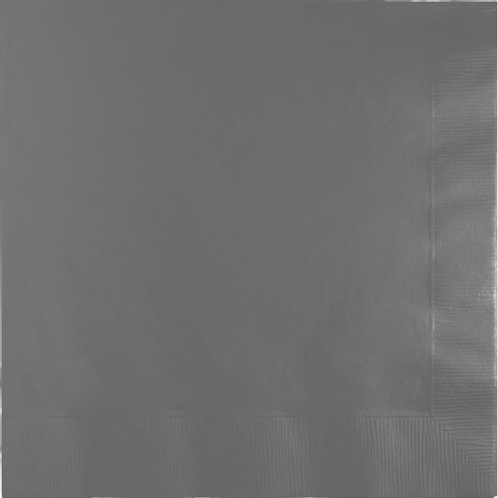 Creative Converting 600 Count Touch of Color Luncheon Paper Napkins, Grey