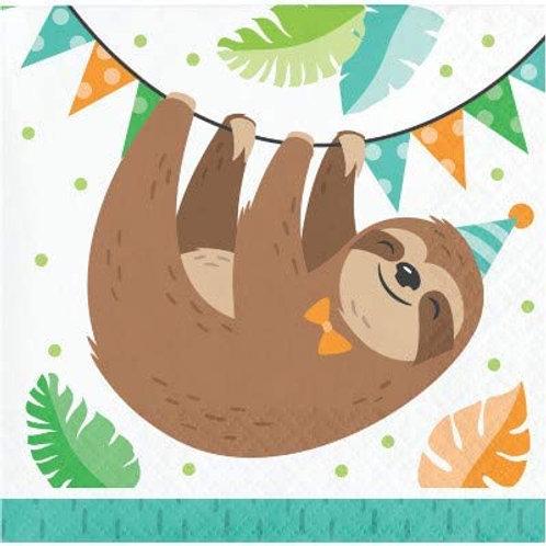 Sloth Birthday Party Supplies, Baby Sloth Birthday Party Printed Beverage Napki