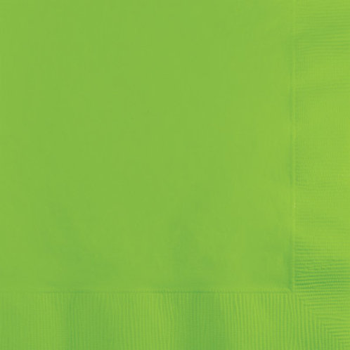 Creative Converting 600 Count Touch of Color Beverage Paper Napkins, Lime