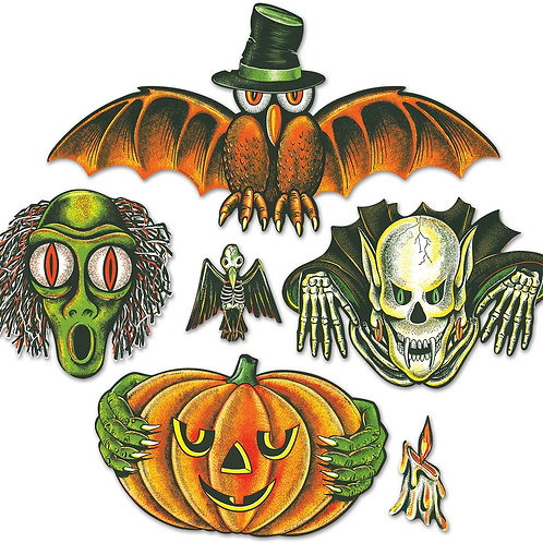 Beistle Halloween Decorations Party Favors, Vintage Halloween Cutouts to Make T