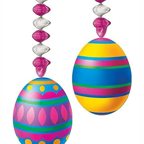 """Pack of 24 Multi-Color Easter Egg Danglers Party Decorations 30"""""""