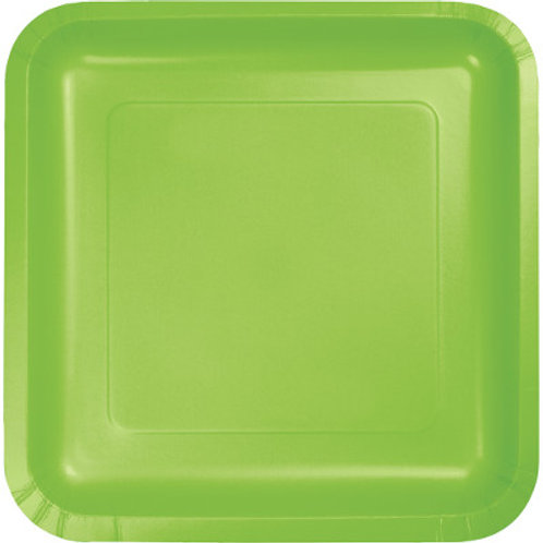 Creative Converting 7 Inch Square Paper Plate, 18 Per Package