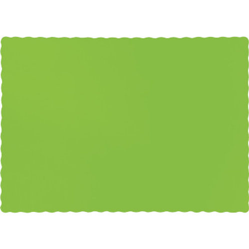 Color Paper Placemats, Lime (100 Count)