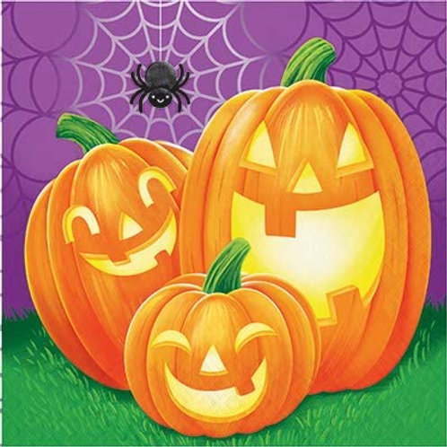 Halloween Party Decorations, Pumpkins Theme Printed Luncheon Size Paper Napkins,