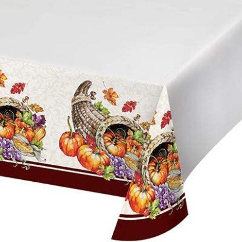 Fall Season Thanksgiving Party Decorations, Cornucopia Pattern Printed Plastic T