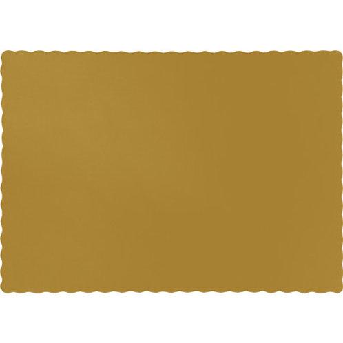 Color Paper Placemats, Gold (100 Count)