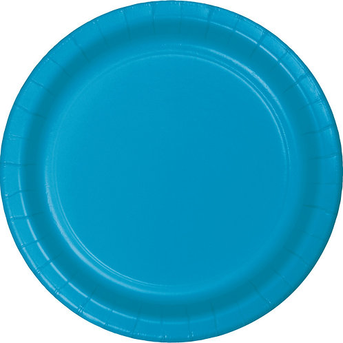 """Turquoise Disposable Paper Party Luncheon Plates 7"""""""