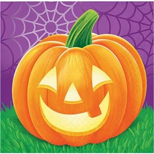 Halloween Party Decorations, Pumpkins Theme Printed Beverage Size Paper Napkins,