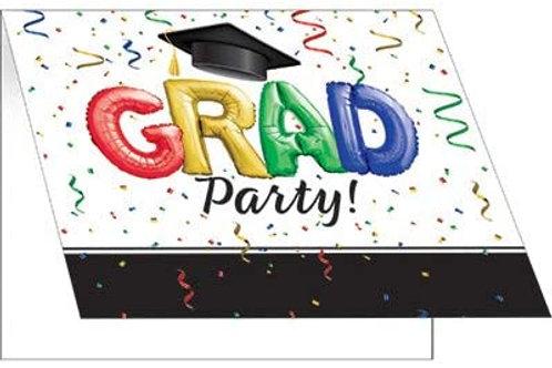 """Creative Converting #1 Grad Invitations 5"""" x 4"""" Multi-colored"""