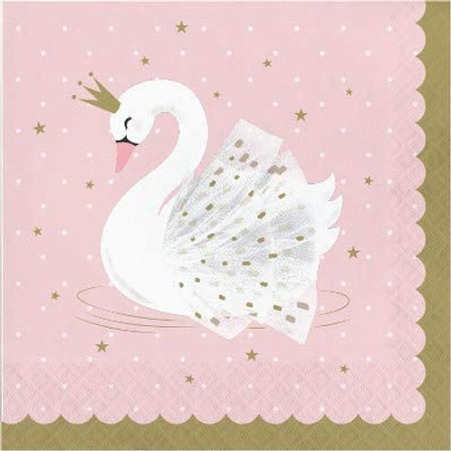 Stylish Swan Birthday Party Decorations, Pink and Gold Swan Party Supplies Lunc