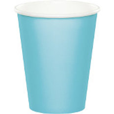 Club Pack of 240 Pastel Blue Disposable Paper Hot and Cold Party Tumbler Cups 9