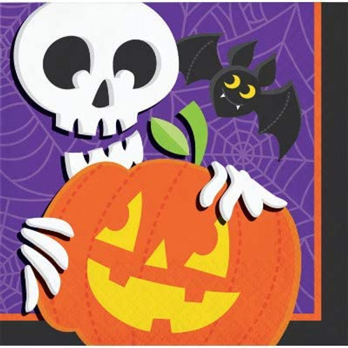 Halloween Party Decorations, Halloween Skeleton Theme Printed Beverage Size Pape