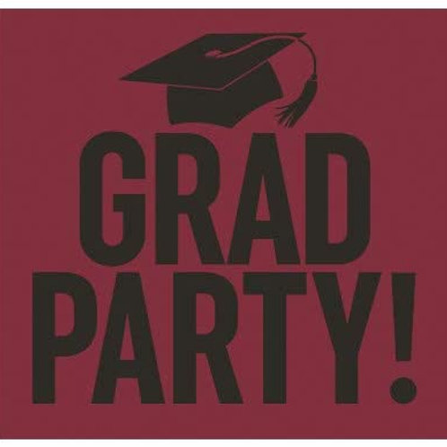 Graduation Party Yard Sign Burgundy and Black