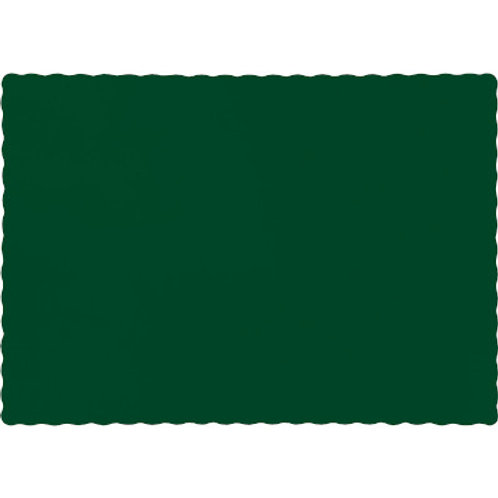Color Paper Placemats, Hunter Green (100 Count)